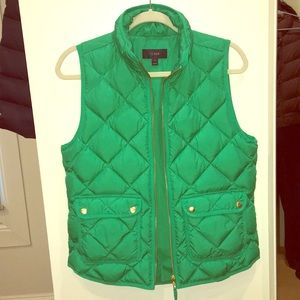 J.CREW green vest size small
